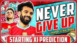 LIVERPOOL COMEBACK AGAIN?! Liverpool vs Real Madrid Starting XI Prediction