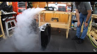 Here's a test using a ground fogger to test the general effectiveness of a $30 DIY Box Fan Air Filter and a $300 Honeywell Air Purifier. This doesn't test for air ...