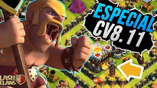 A EVOLUÇÃO DE UMA CV8.11 EM 1 ANO !! ESPECIAL CV8.11 NO CLASH OF CLANS
