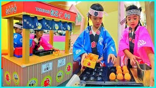 หนูยิ้มหนูแย้ม | ขายทาโกะยากิ Indoor Playground Kidzooona สาขาเมกาบางนา