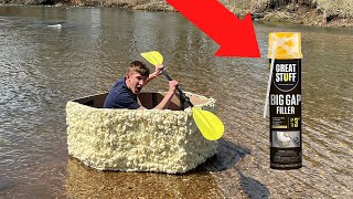 I Made A Boat Out Of Spray Foam