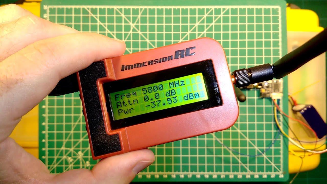Rf Power Meter : Immersionrc rf power meter review sample measurements