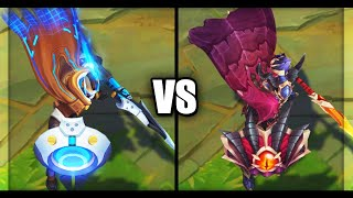 Pulsefire Pantheon vs Dragonslayer Pantheon Epic Skins Comparison (League of Legends)