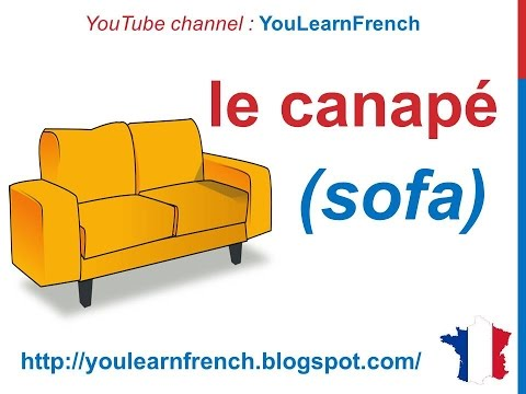 French Lesson 87 - Things in the Living Room Furniture Le salon salle de séjour La sala de estar