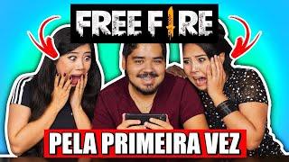 MARU E JERU JOGANDO FREE FIRE PELA 1ª VEZ ft. BLOG DAS IRMÃS | Lucas Tuzaki