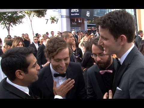Silicon Valley's Kumail Nanjiani, Thomas Middleditch, Martin Starr, & Zach Woods at the Emmys