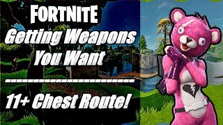 Fortnite - Getting Items You Want!! - 11 Chest Drop Route & Easy Wins