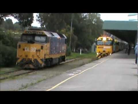 The Overland, The Indian Pacific and Trans Australian Railway Centenary Train at Keswick. 14-9-2012.