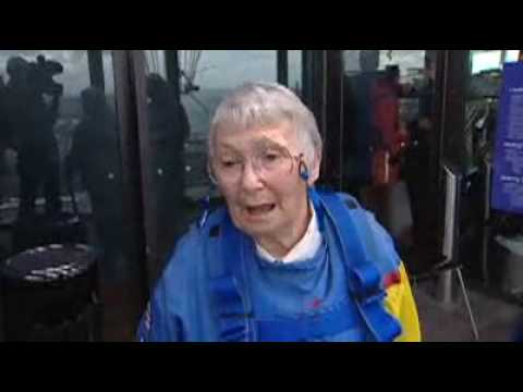 Paul Henry's mum jumps off the Sky Tower