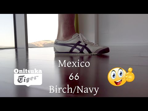 """onitsuka-tiger-mexico-66-""""birch-navy""""-men-sneakers-overview-""""after-1-month-of-use""""-by-#easylifees-4k"""
