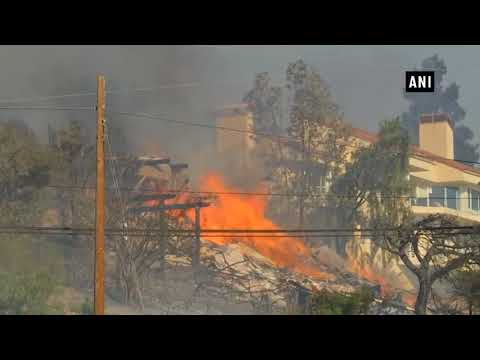 Emergency declared as wildfires rage near Los Angeles