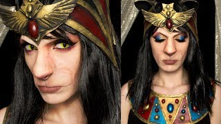 Bastet transformation - Cat Egyptian Goddess make up e accessori (ENG SUB)
