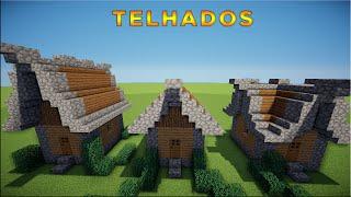Minecraft: Dicas de Construção - 1: TELHADOS