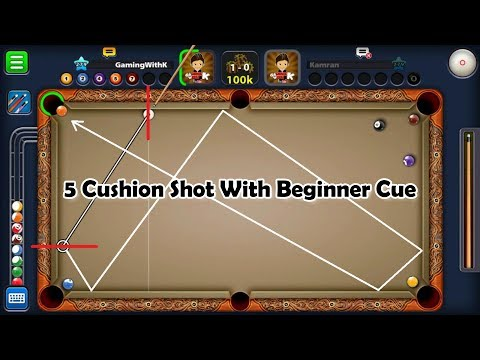 TRICKSHOTS with BEGINNER CUE - 8 Ball Pool (1080p)