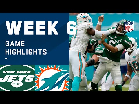 Jets vs. Dolphins Week 6 Highlights | NFL 2020