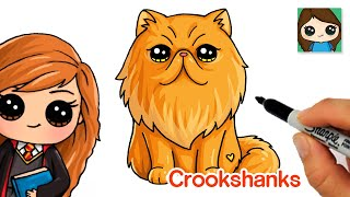 How to Draw Crookshanks | Hermione's Cat from Harry Potter