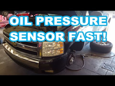 2007 Chevy Silverado 5.3L OIL PRESSURE SENSOR REPLACEMENT    sending unit p0523 oil gauge switch
