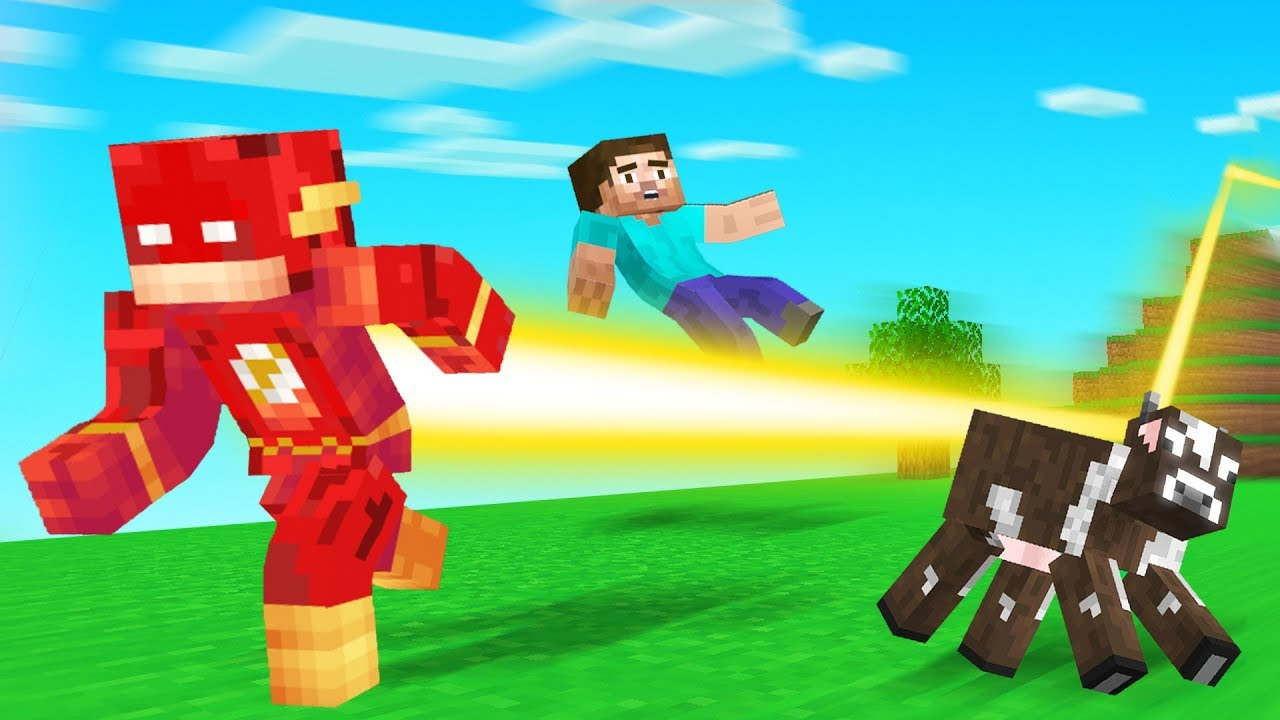 Playing MINECRAFT As FLASH! (super fast)