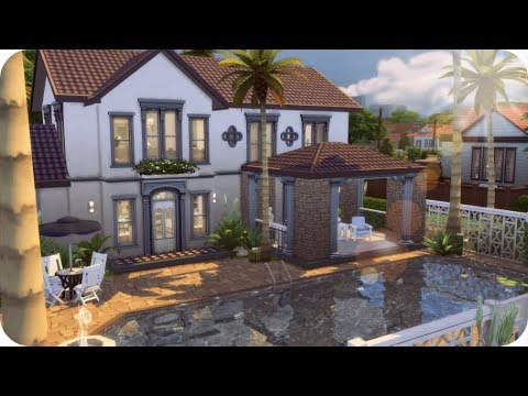 BASE GAME VACATION HOME 🌴 | Sims 4 House Building - YouTube