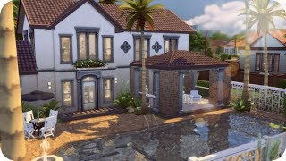 BASE GAME VACATION HOME 🌴 | Sims 4 House Building