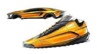 신발 스케치 & 디자인( Lamborghini Shoes Sketch & Design )