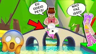 MY FRIEND DOES NOT LIKE PETS IN ADOPT ME-ROBLOX HISTORINHA