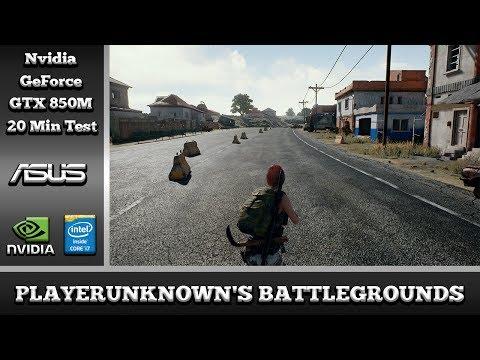 PlayerUnknowns Battlegrounds on Nvidia GeForce GTX 850M 2GB DDR3 (Asus N550JK Notebook)