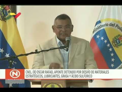 Rueda de prensa del ministro venezolano Nestor Reverol sobre detenciones en Pdvsa