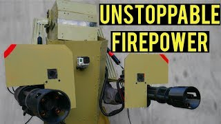 Unstoppable Airsoft Firepower | Airsoft Mech Suit with Dual Mini-Guns! Ballahack Airsoft 10 Year