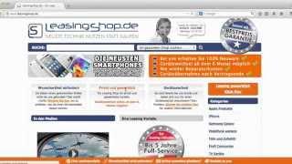 Anleitung Leasingshop, so einfach geht Leasing für Unterhaltungselektronik privat und gewerblich