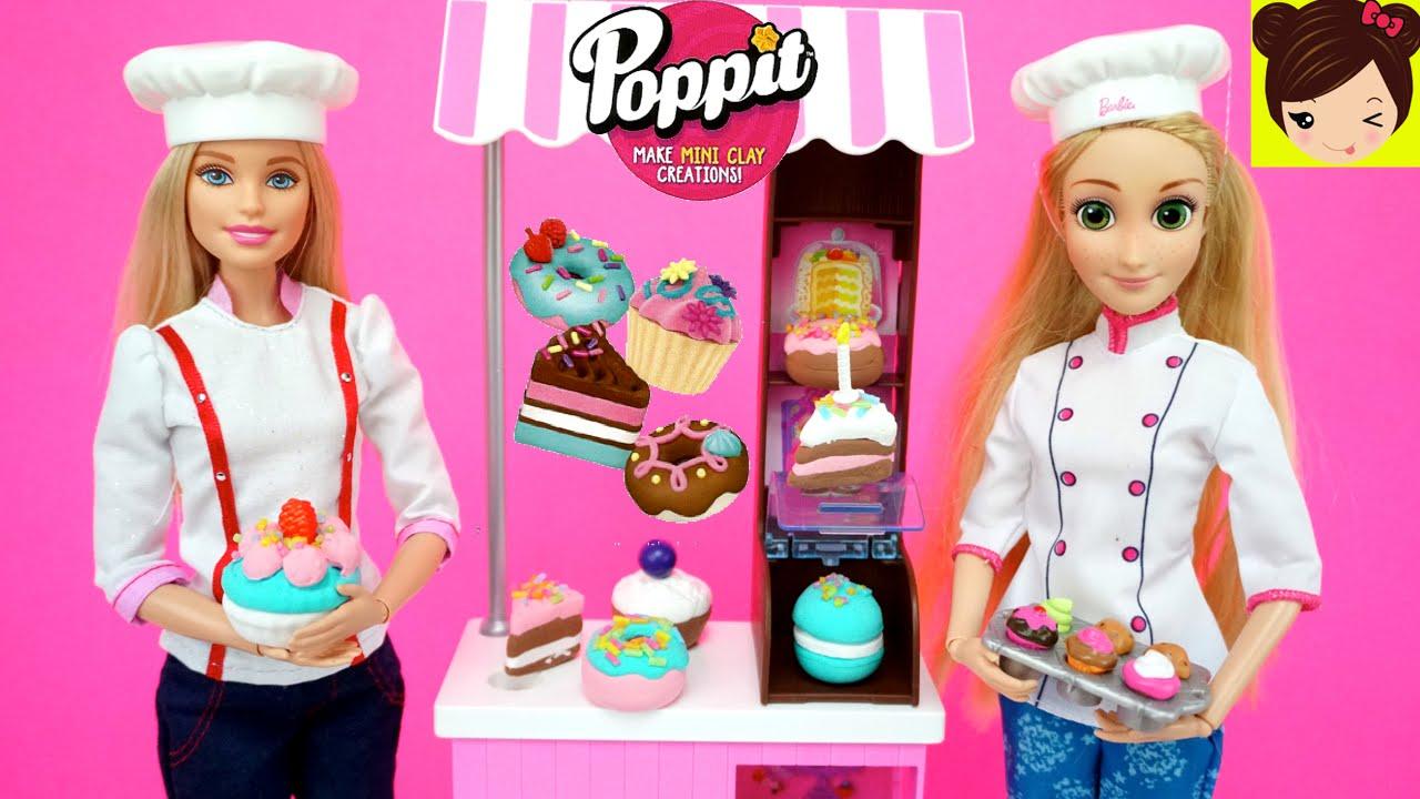 Rapunzel Trabaja En La Pasteleria De Barbie Con Pasteles De Arcilla