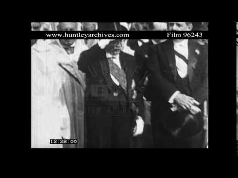 Sultan of Morocco with President of France.  Archive film 96243