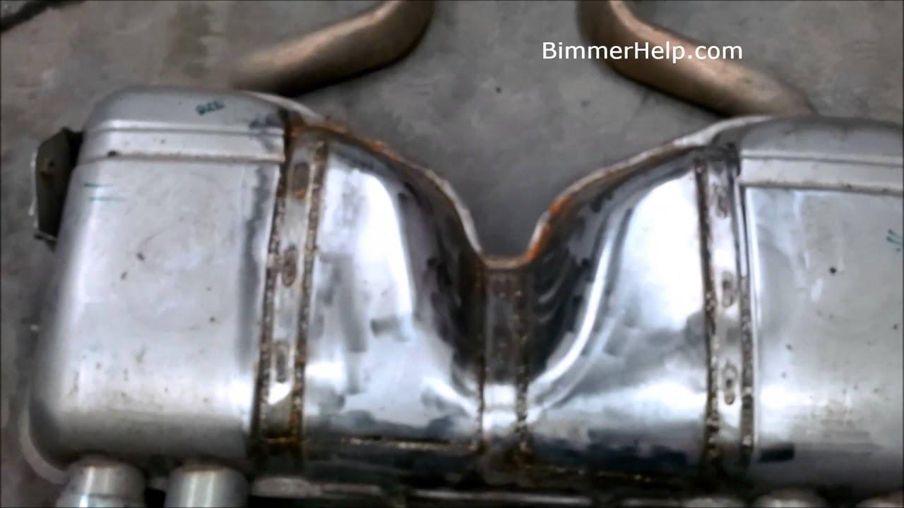 E92 M3 Muffler Exhaust Mod Diy Youtube
