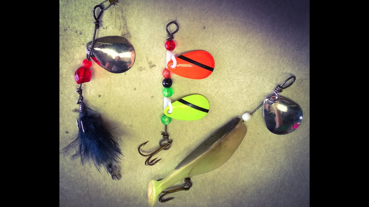 make your own spinner fishing lure fishing off the hook youtube