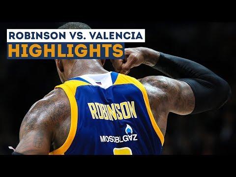 Thomas Robinson HIGHLIGHTS vs. Valencia 13102017 by khimkibasketTV