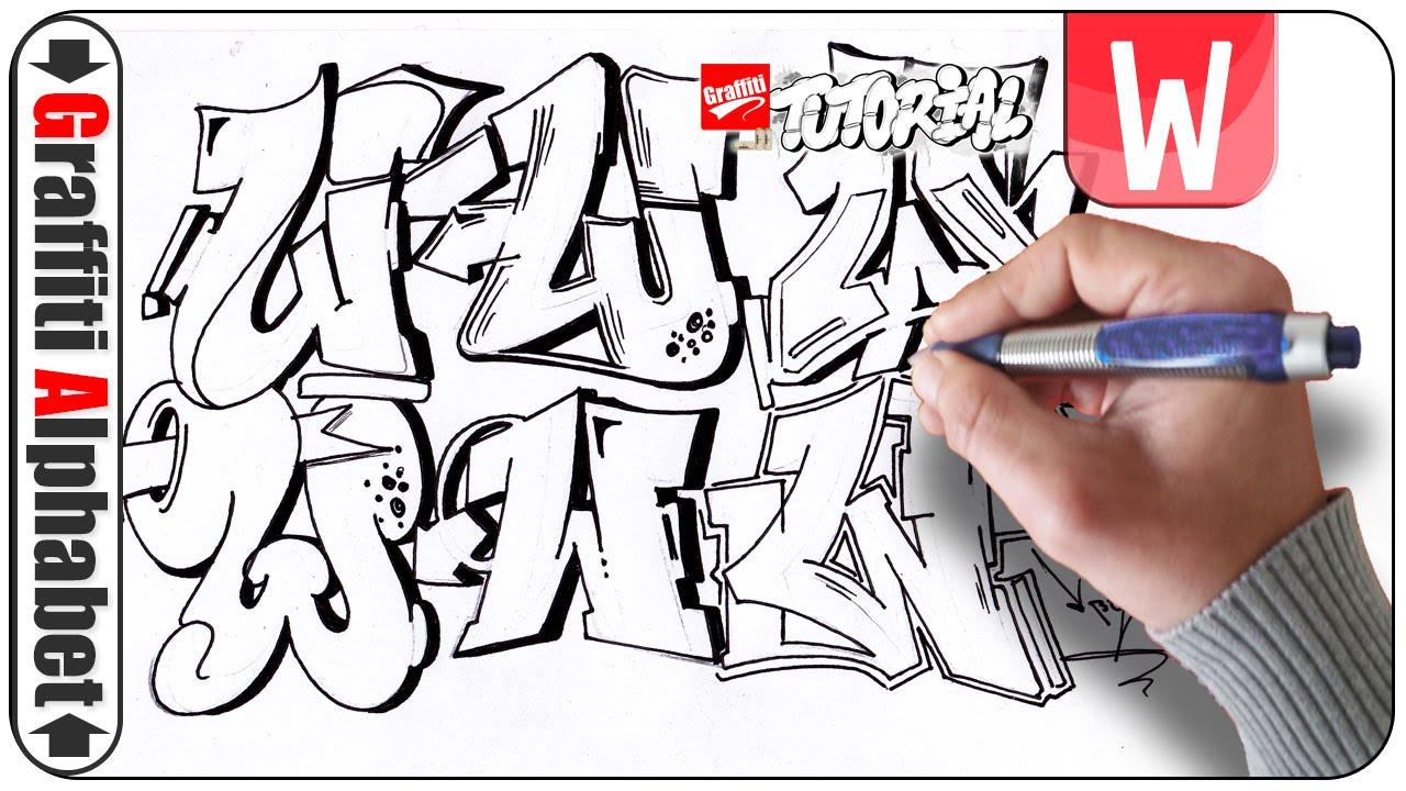 Graffiti alphabet buchstabe w letra w letter w art full hd