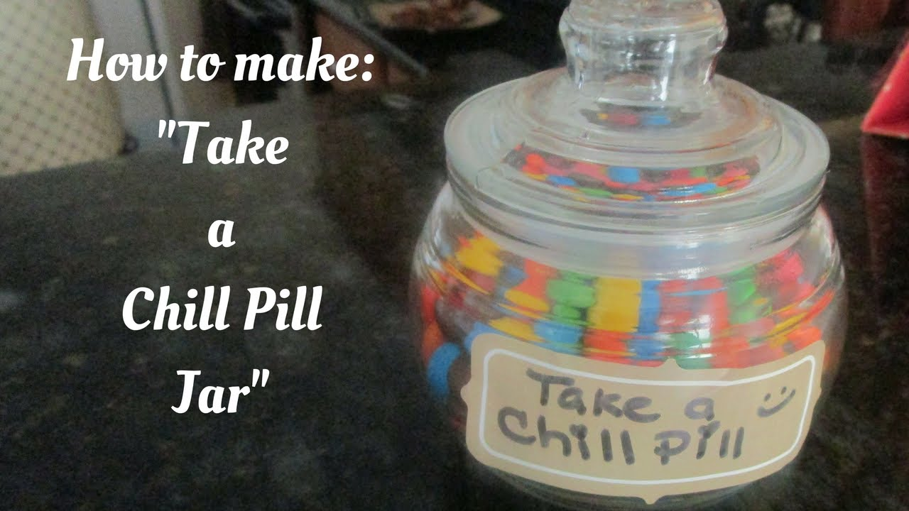 How to make a chill pill jar dollar store edition youtube for How to draw a pill