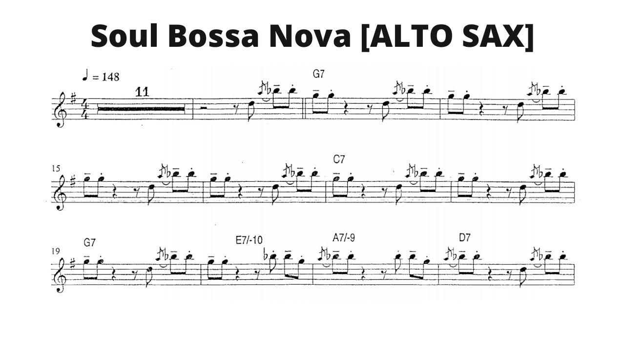 Soul Bossa Nova [ALTO SAX] [Quincy Jones]