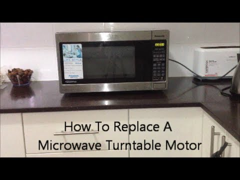 How To Replace A Microwave Turntable Motor