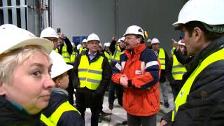 Nocne zwiedzanie nowej elektrociepłowni gazowej w Toruniu