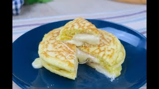 Savory pancakes: soft and fluffy and made with no butter!
