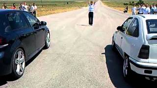 Opel Kadett GSi Turbo .vs. Golf VI R thumbnail