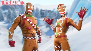 GINGERBREAD SKINS ARE BACK! NEW MERRY MARAUDER STYLES GAMEPLAY!! FORTNITE BATTLE ROYALE!!!