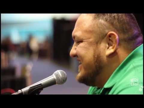 Samoa Joe with Steve Migs & AJ Francis
