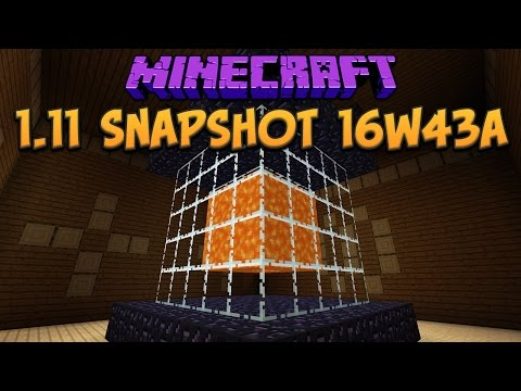 Minecraft 1.11 Snapshot 16w43a New Mansion Room & Fishing Farms Nerfed