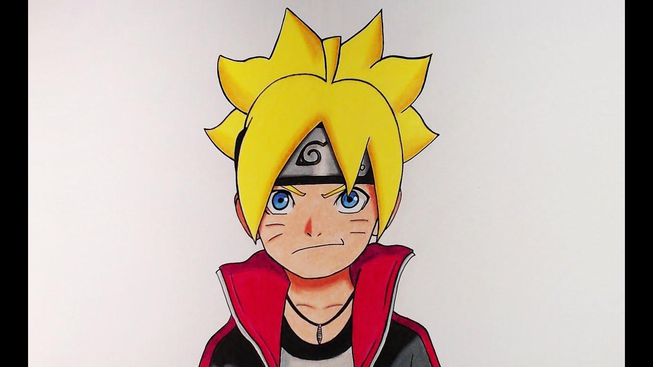 Naruto Modo Sabio De Los 6 Caminos Para Colorear: Aprende A Dibujar A Boruto Con Lápices De