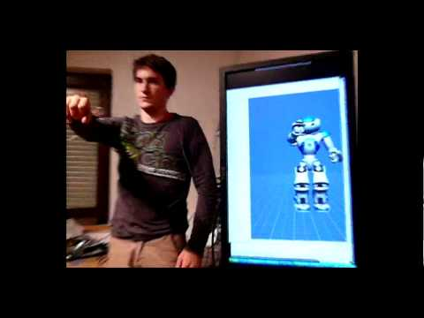 Nao robot arm interaction - gyroscope, accelerometer and magnetometer