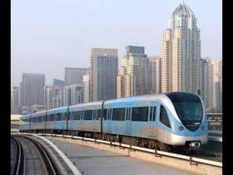 Dubai Metro Ride  l Red Line