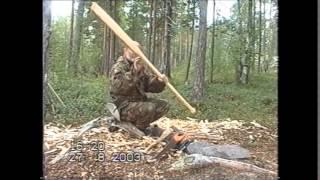 Как сделать весло из бревна