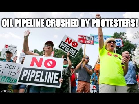 WEB EXCLUSIVE: Oil Pipeline CRUSHED By Protesters!